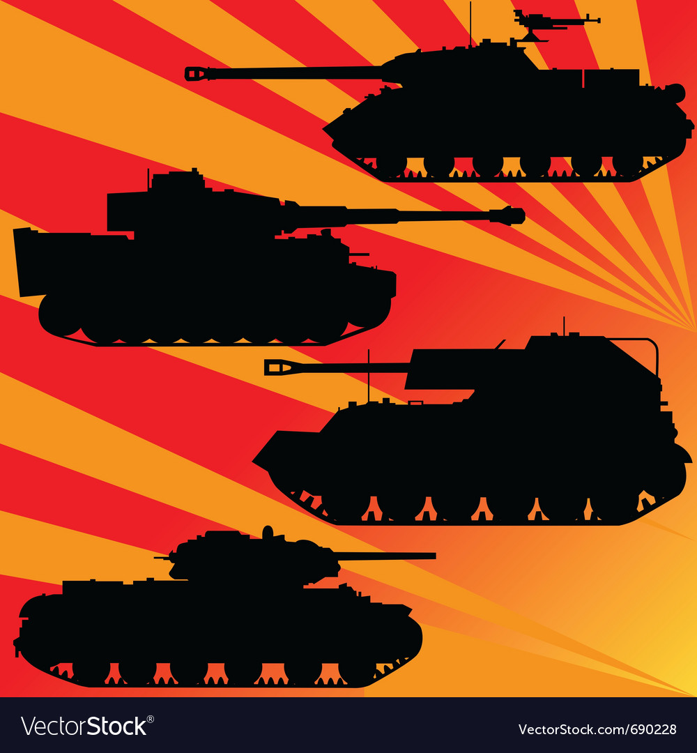 Military equipment vector image