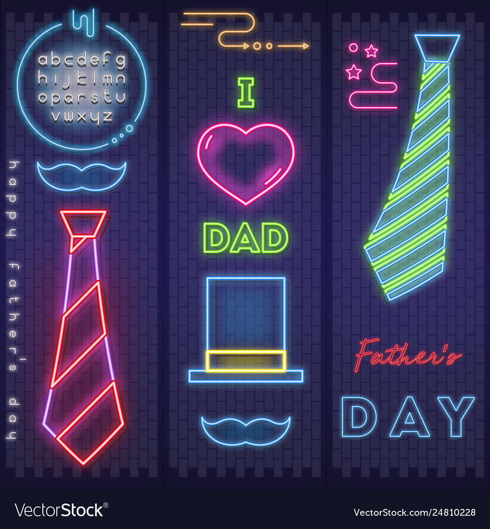 Neon card for fathers day