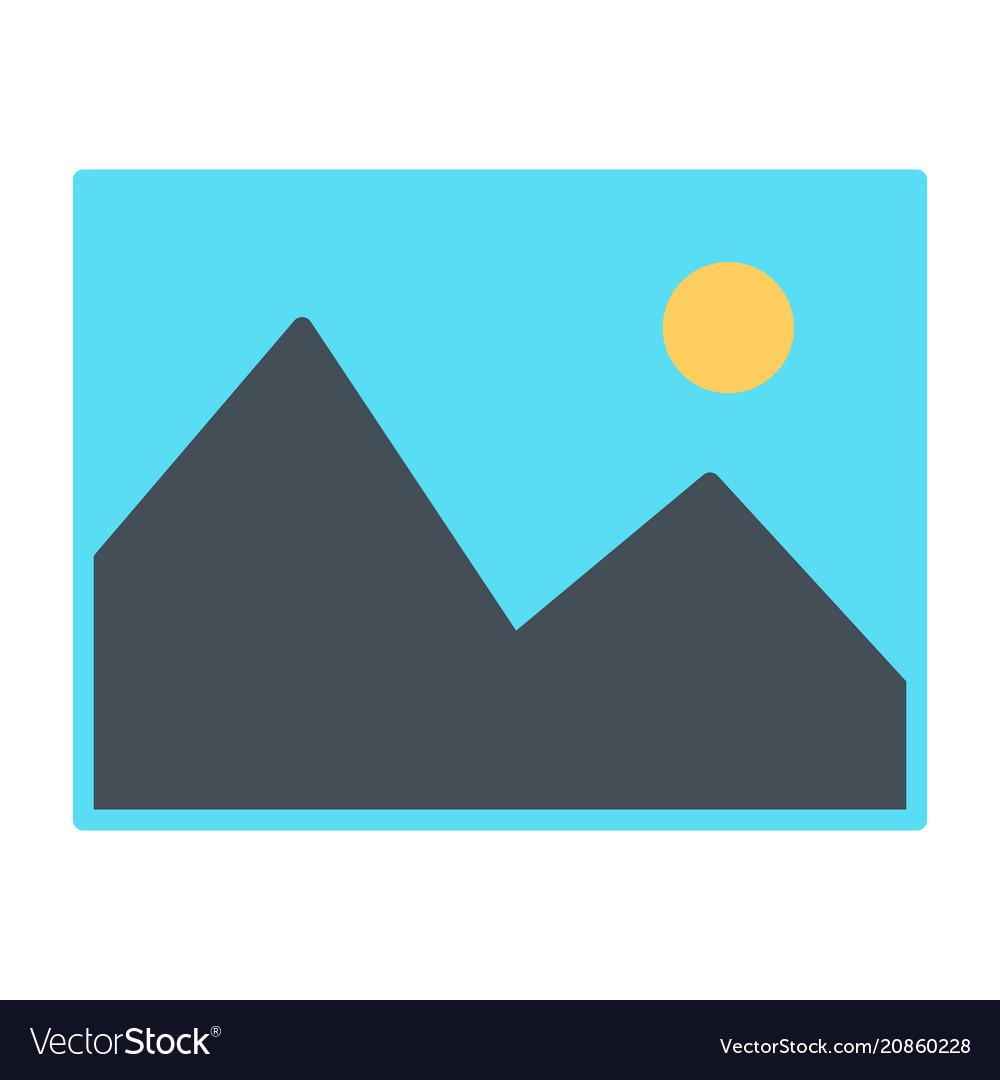 Picture icon simple minimal 96x96 pictogram