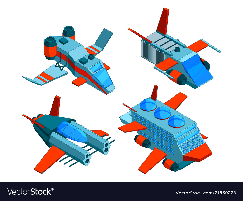 Spaceships isometric space technologies cargo and