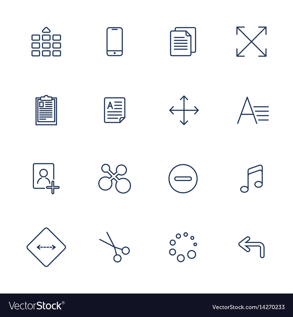 Apps icon set over linen