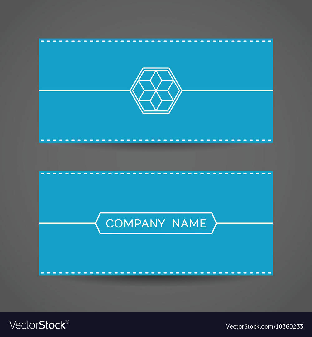 Blue Envelope Template Vector Image