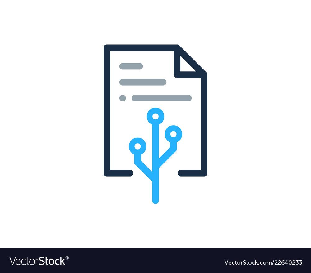 Digital document logo icon design