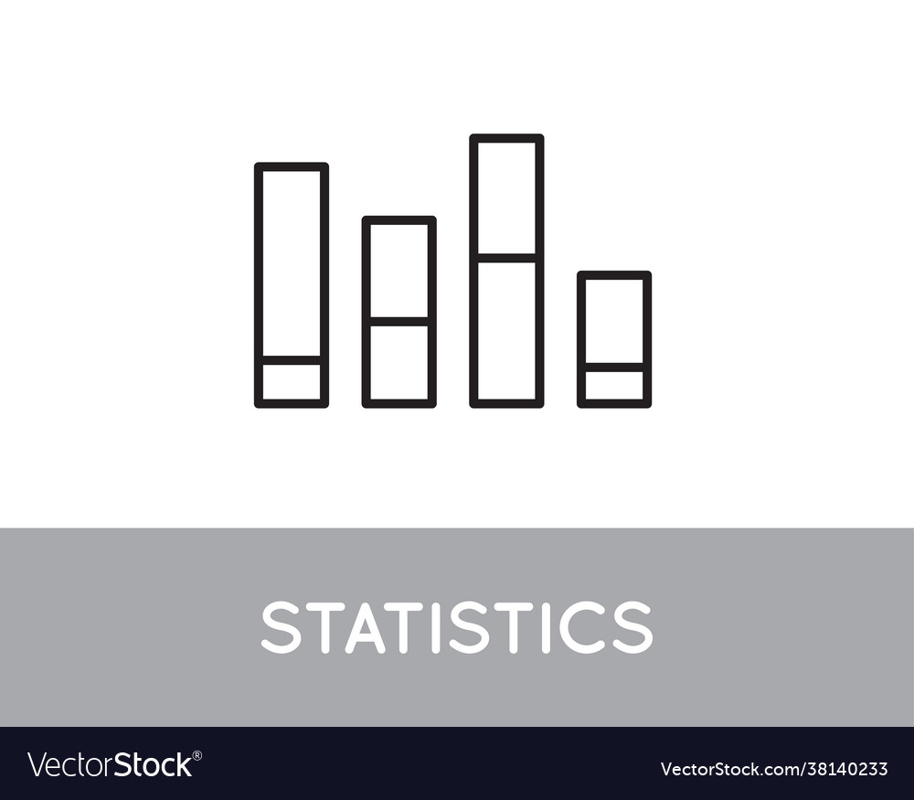 Icon bar chart single simple graphic