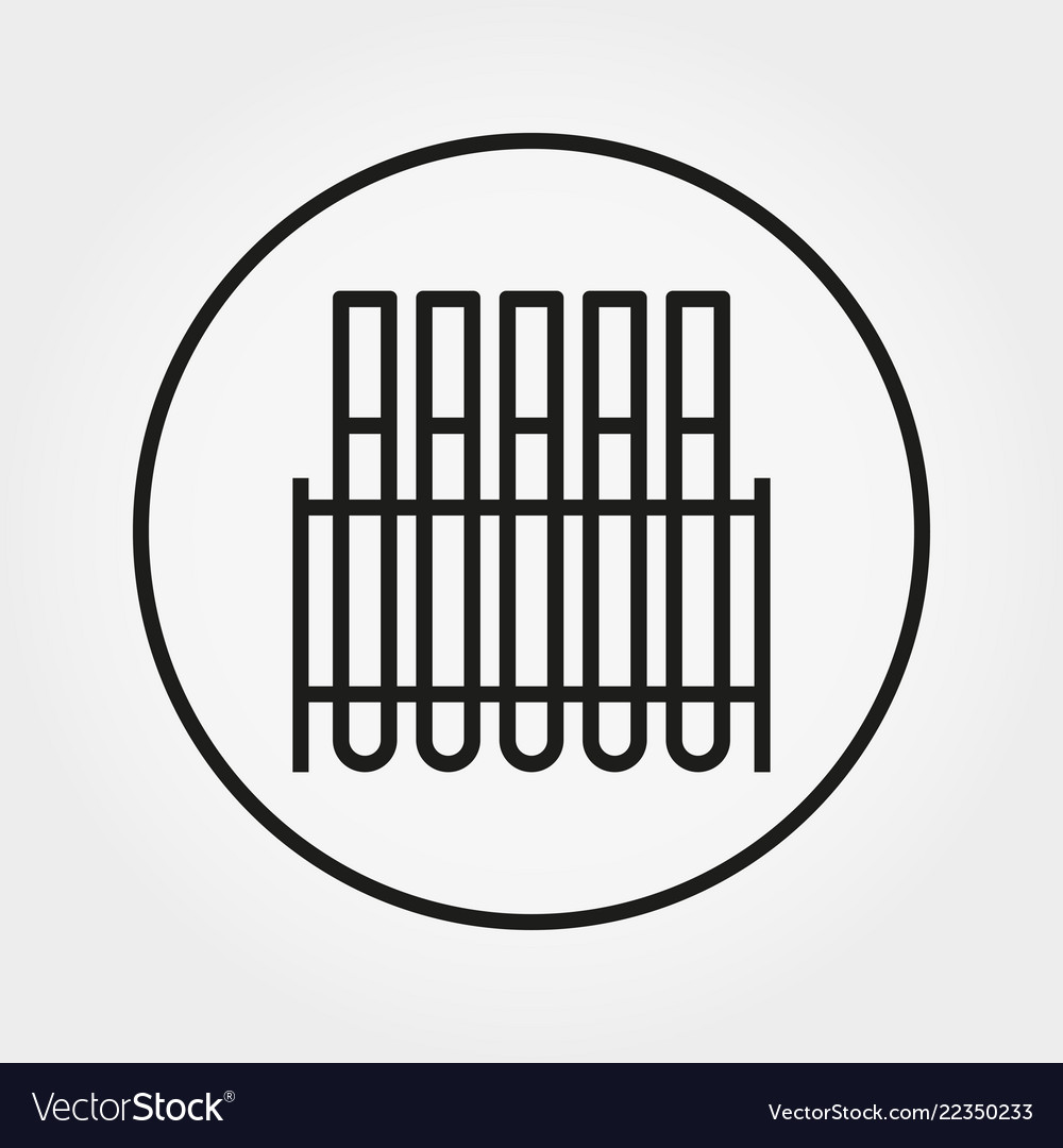 Laboratory test tubes universal icon