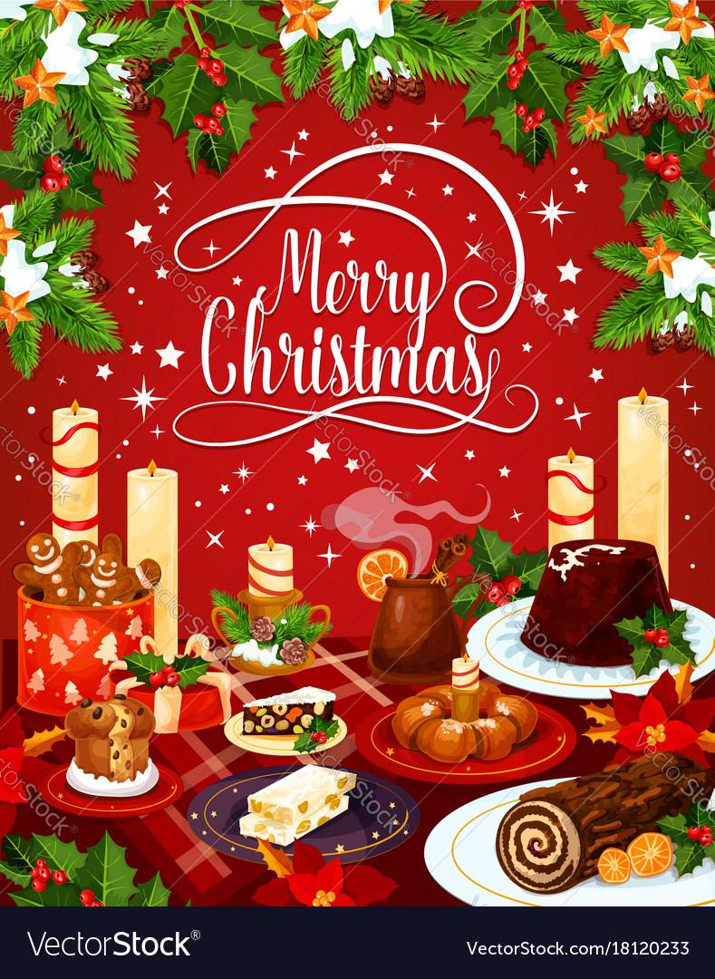 Merry christmas eve dinner greeting