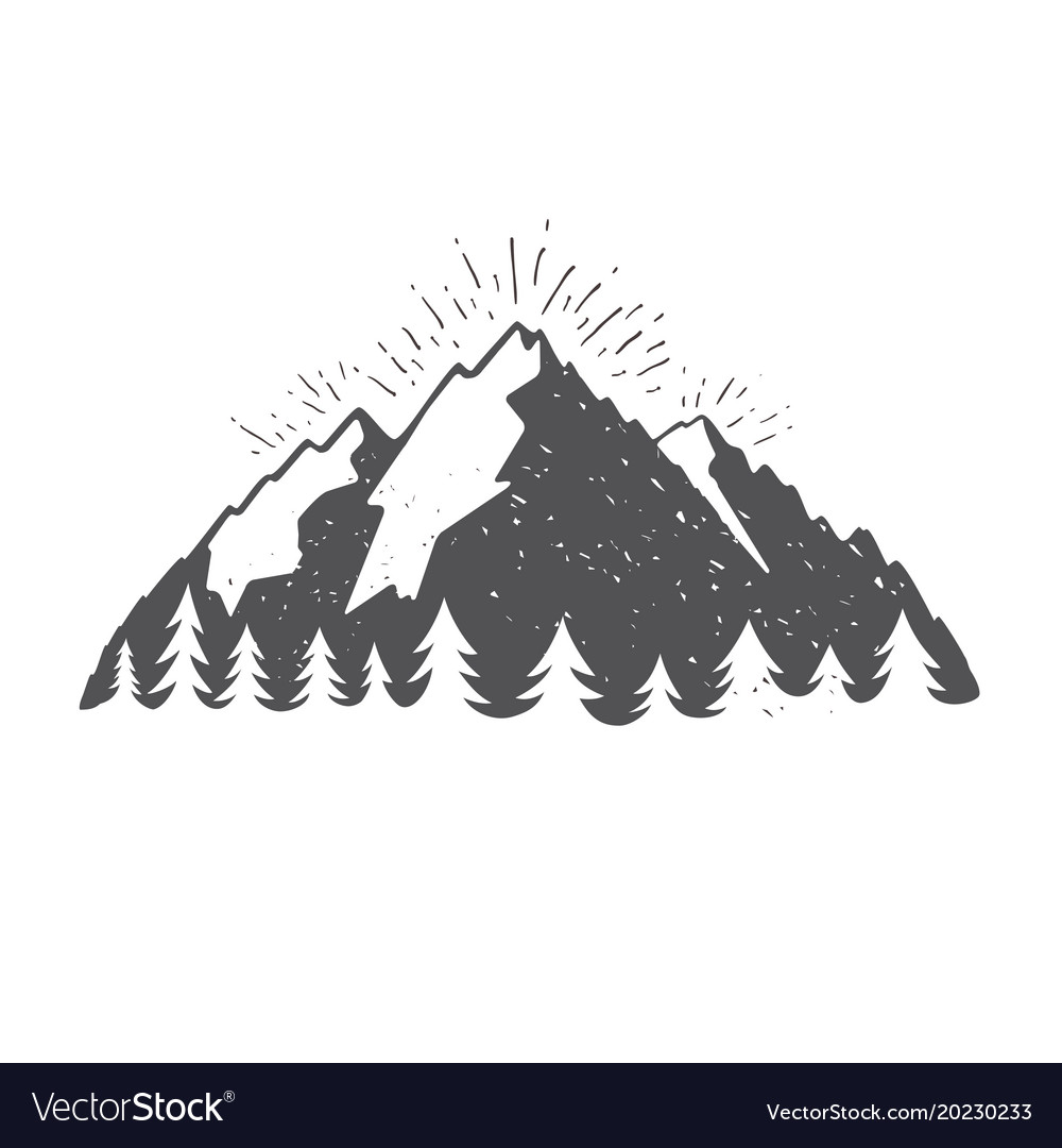 Montain vintage for travel vector image