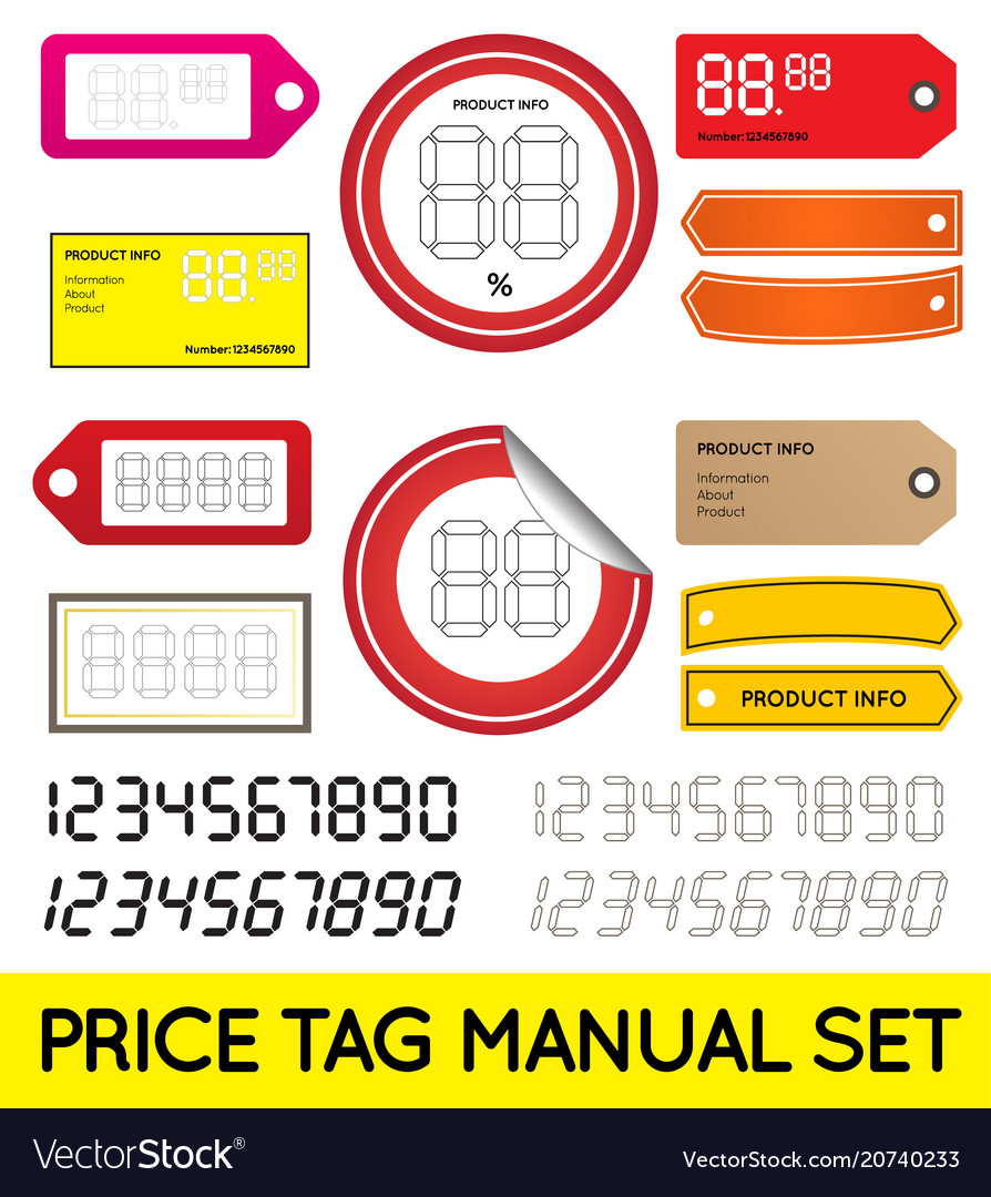 Price tag set enable for print or manual price