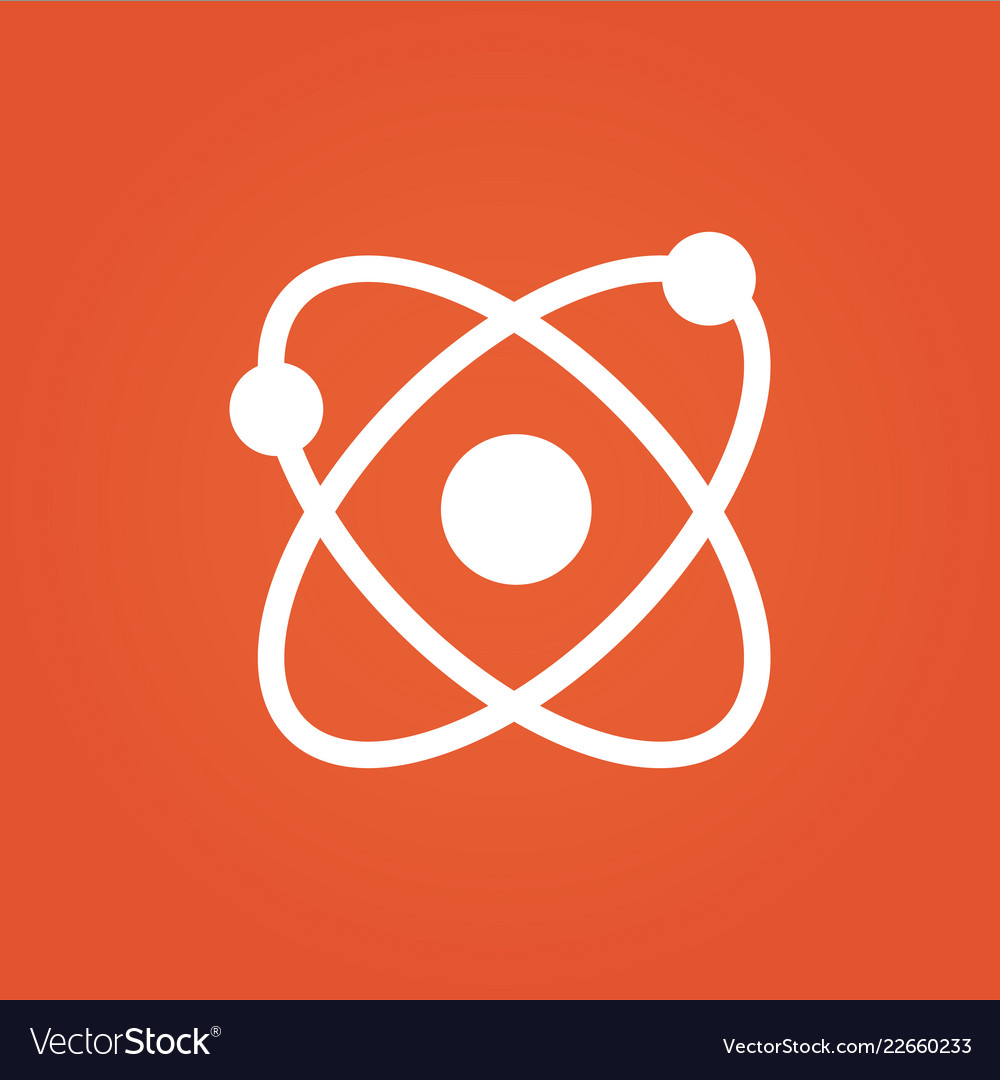 Science icon science design isolated on orange