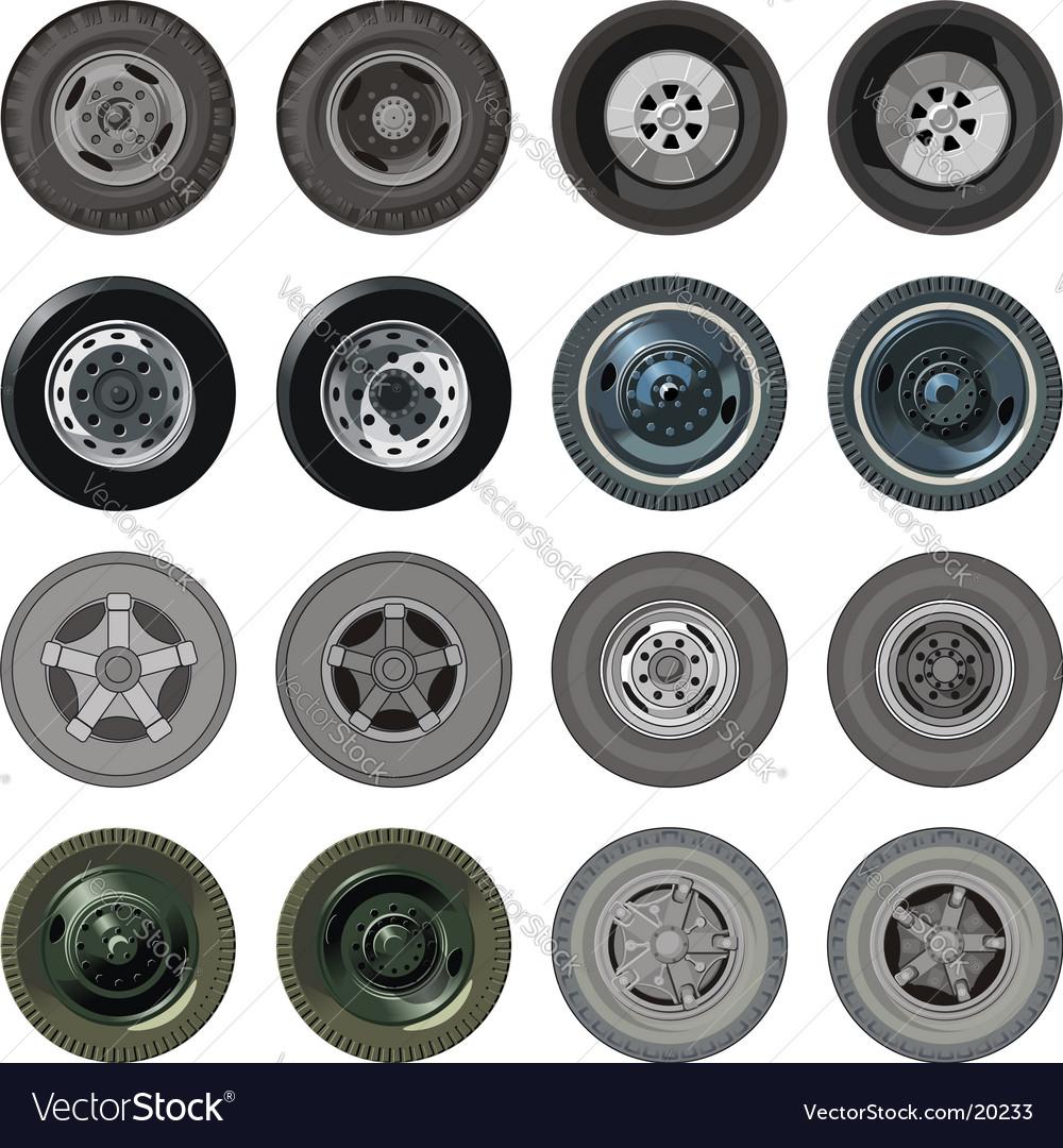 Truck Wheels Set Vector Image