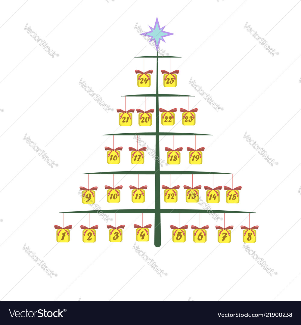 Advent calendar for christmas with a picture of