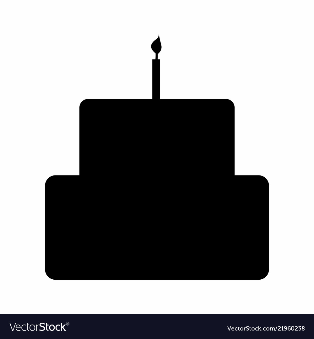 Birthday cake silhouette