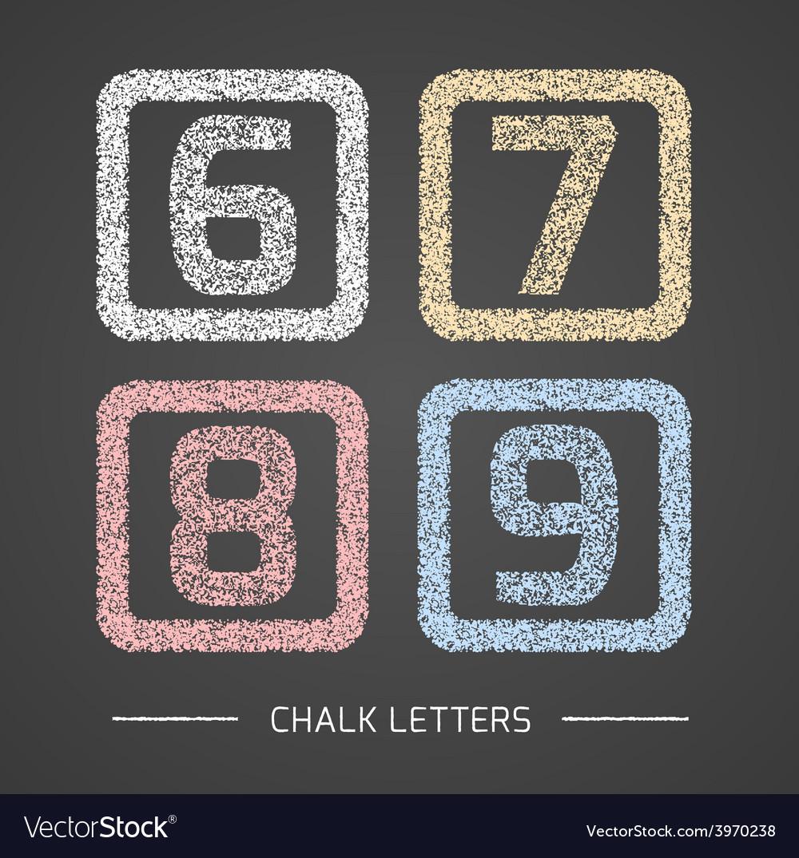 Chalk numbers set