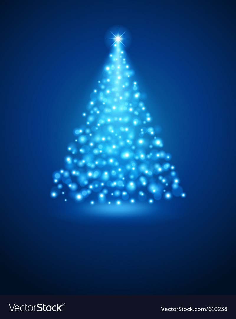 Christmas tree from light