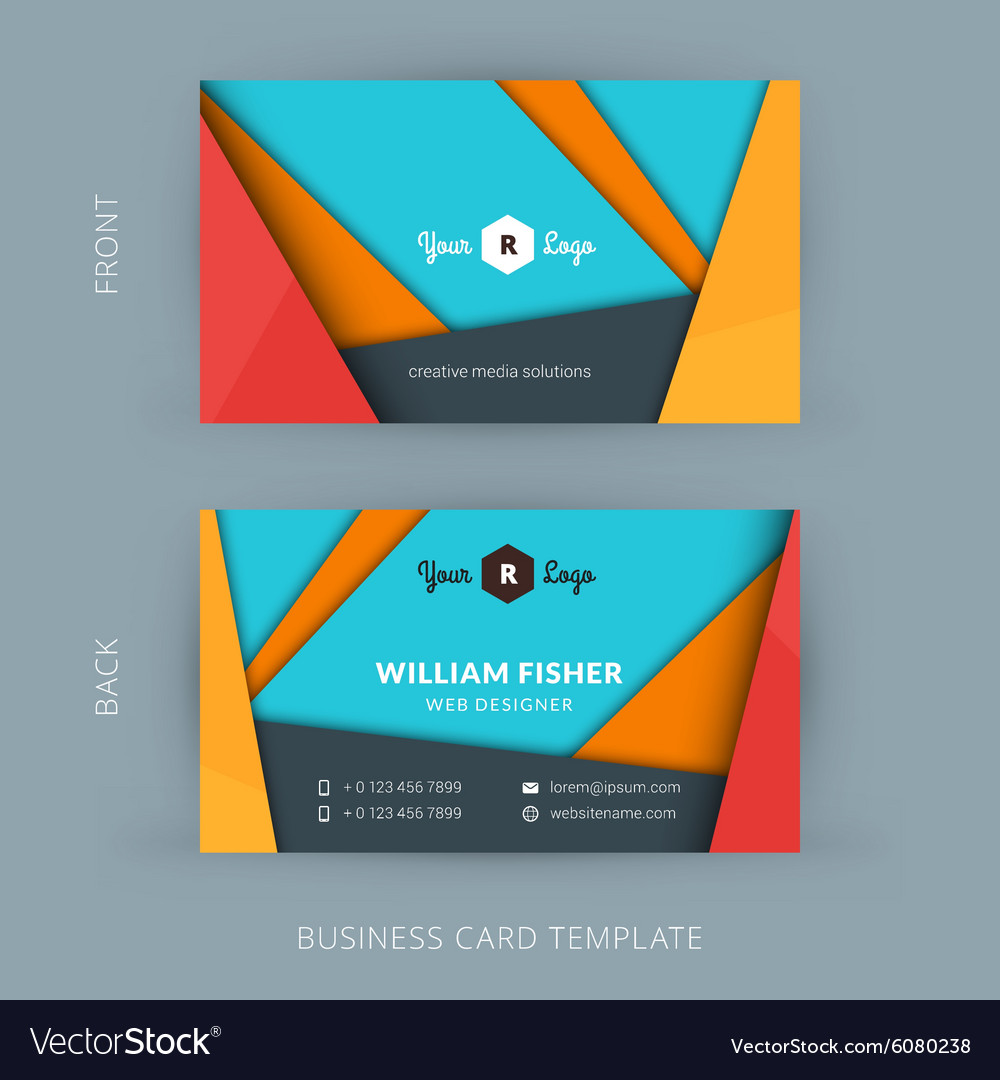 Creative And Clean Business Card Template With