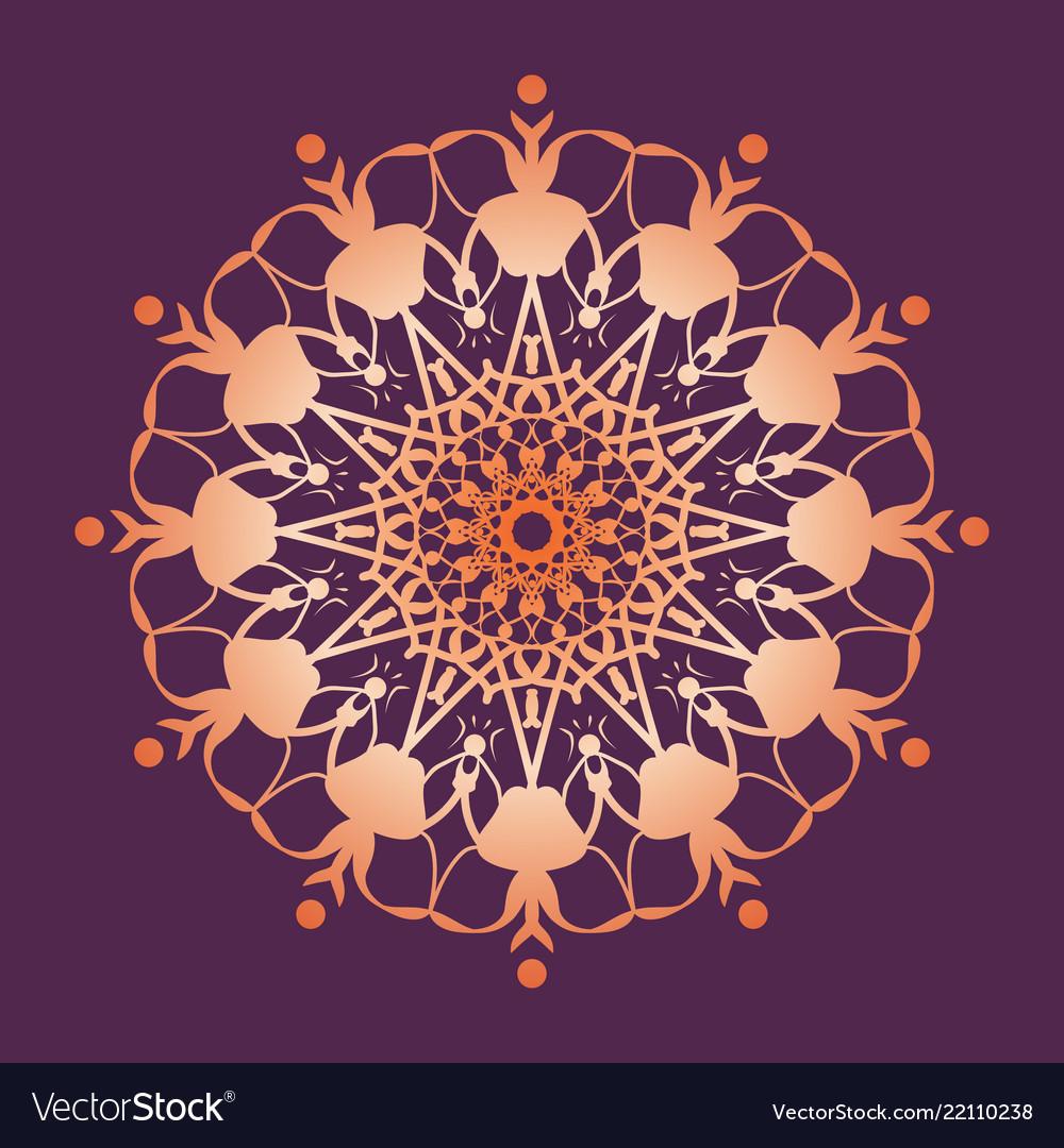 Mandala pattern floral round decorative symbol