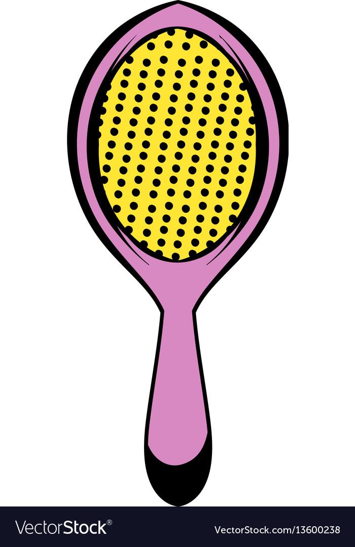 Massage comb icon icon cartoon