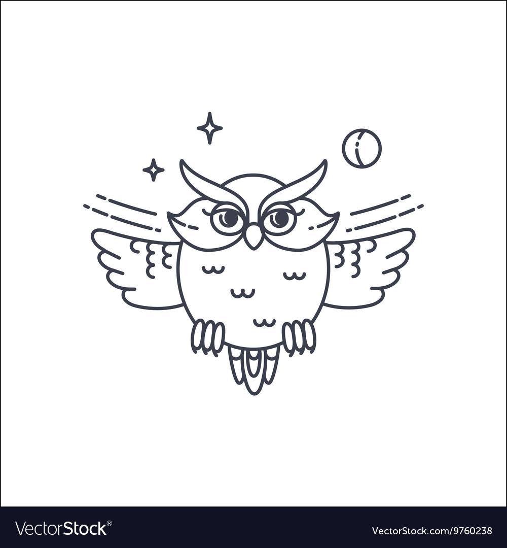 Owl liliar ilustration