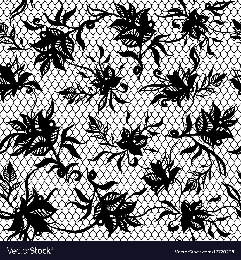 Seamless pattern of black lace