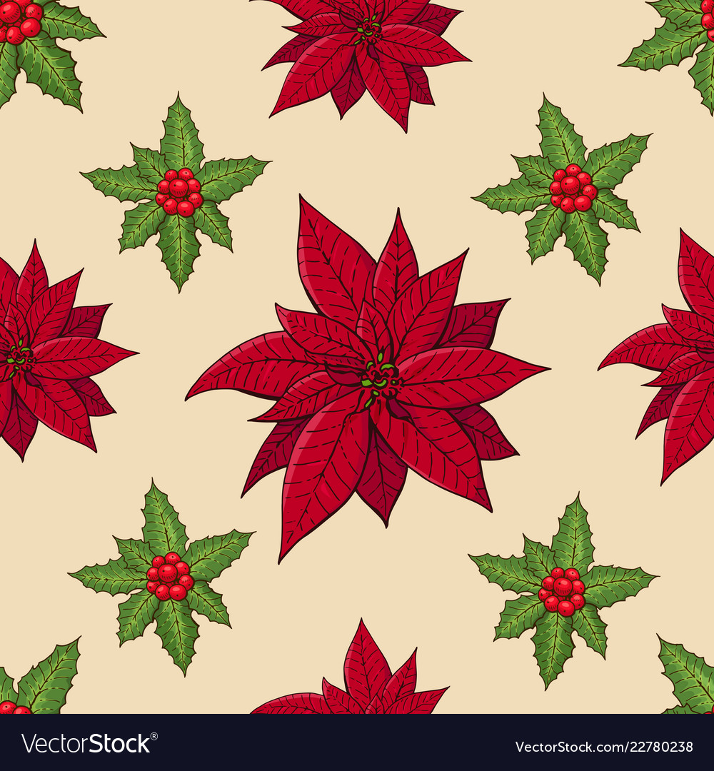 Seamless pattern with traditional homeplant