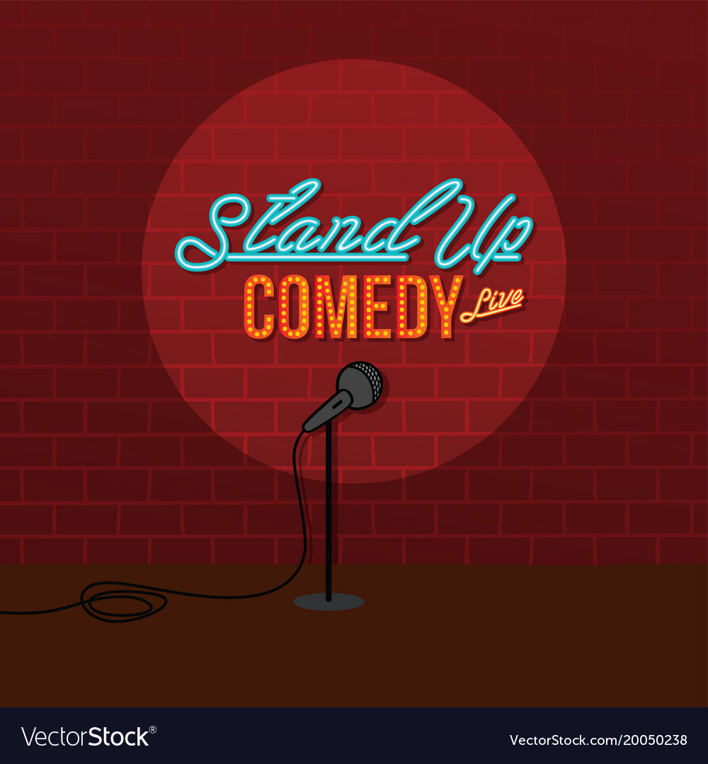 Stand up comedy open mic vector image