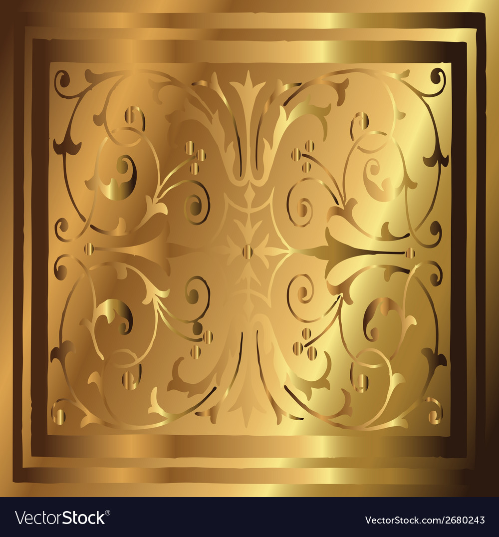Abstract Copper Gold Background of Elegant Vintage vector image