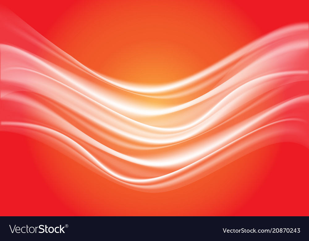 Abstract white wave soft on red light design vector image