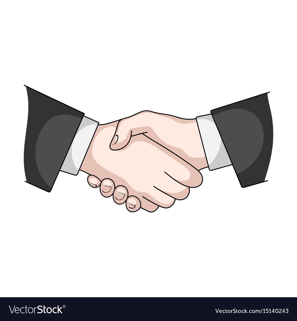 Handshakerealtor single icon in cartoon style