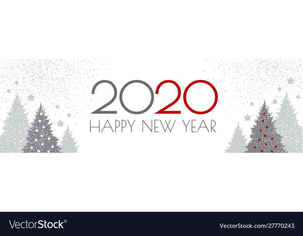 Happy new 2020 year flyer design template elegant