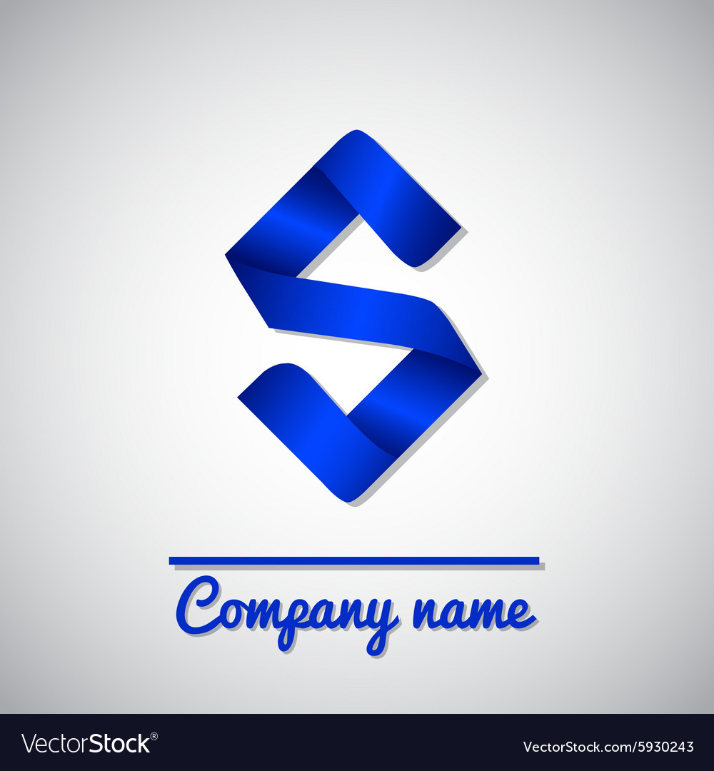 Icon of paper business logo letter s