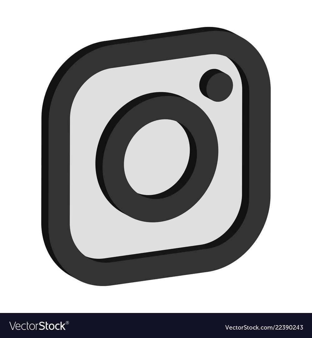 Instagram logo isometric icon