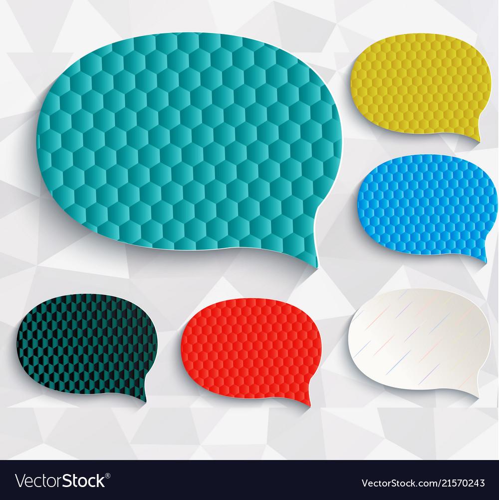 Multicolored speech bubbles