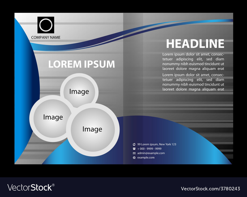 professional business brochure design royalty free vector