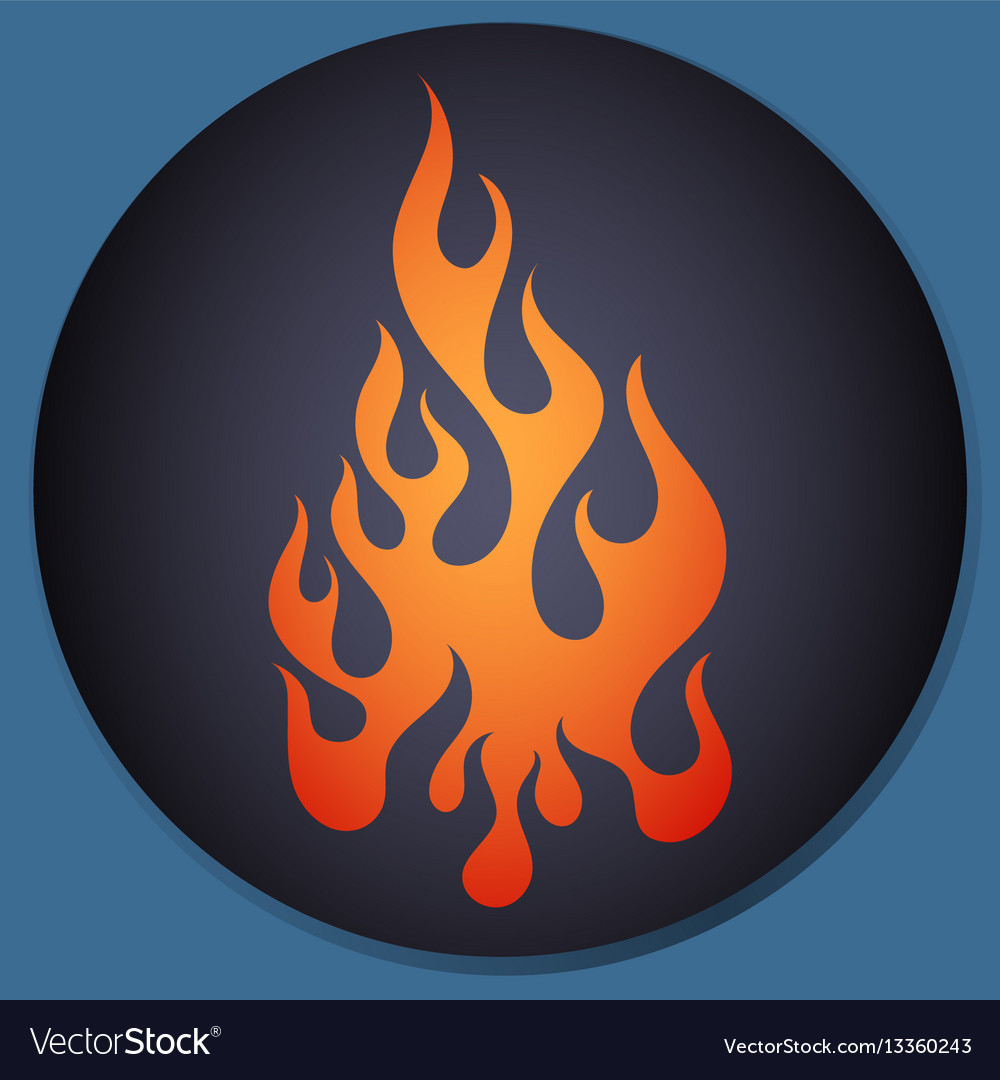 Red and orange gradient flame element