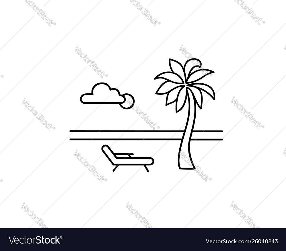 Seaside beach view at resort relaxing summer