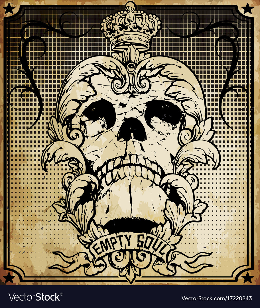 Skull frame set easy to edit all fonts are free