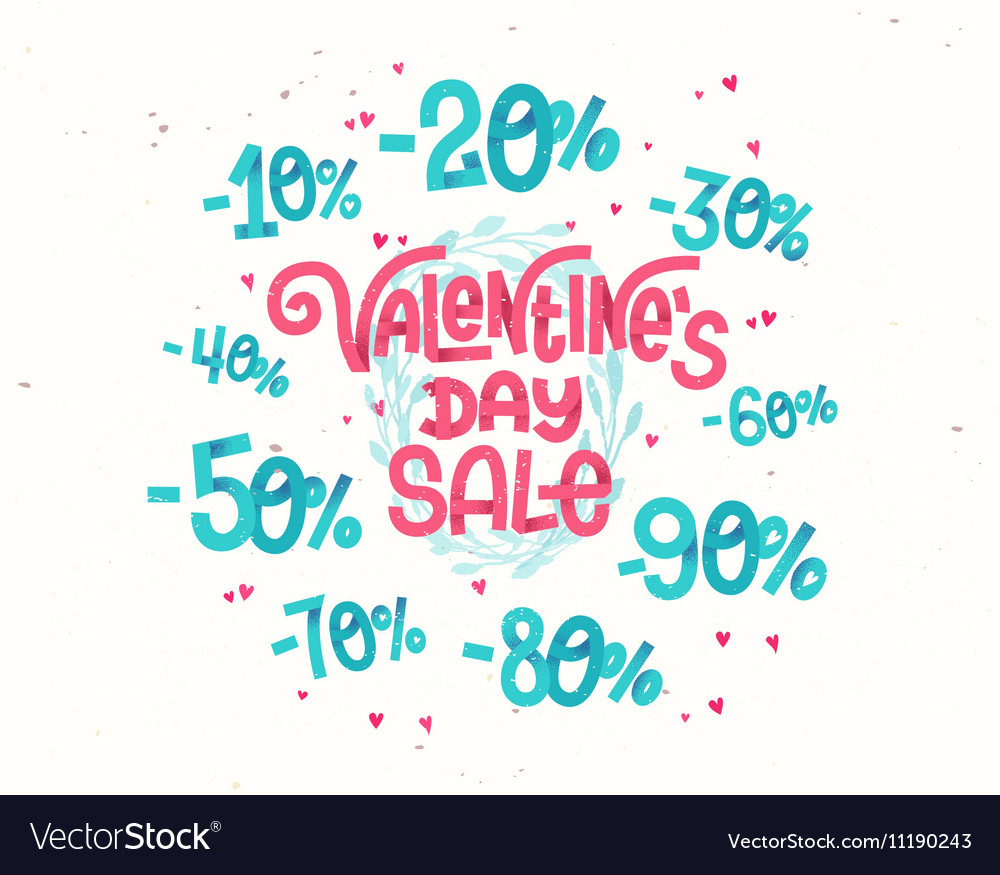 Valentines day sale discount percentages