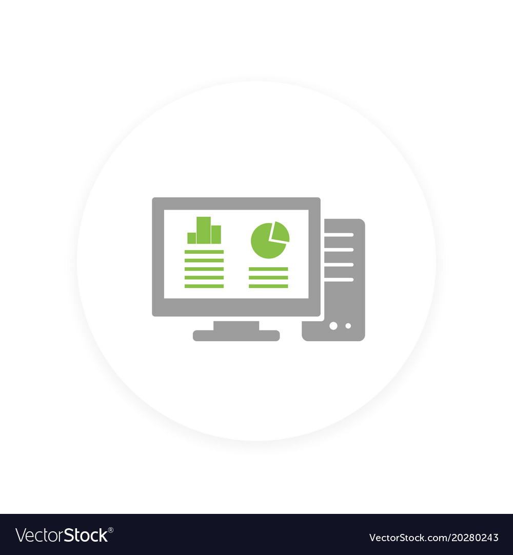 Workstation computer icon vector image