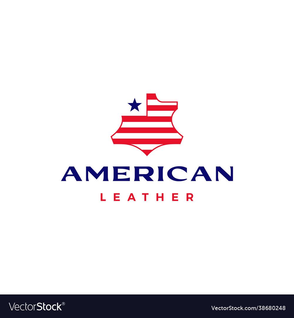 American leather usa flag logo icon