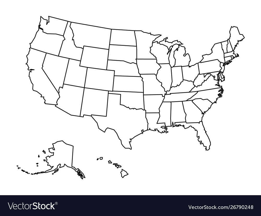 Map Of America Outline.Blank Outline Map United States America
