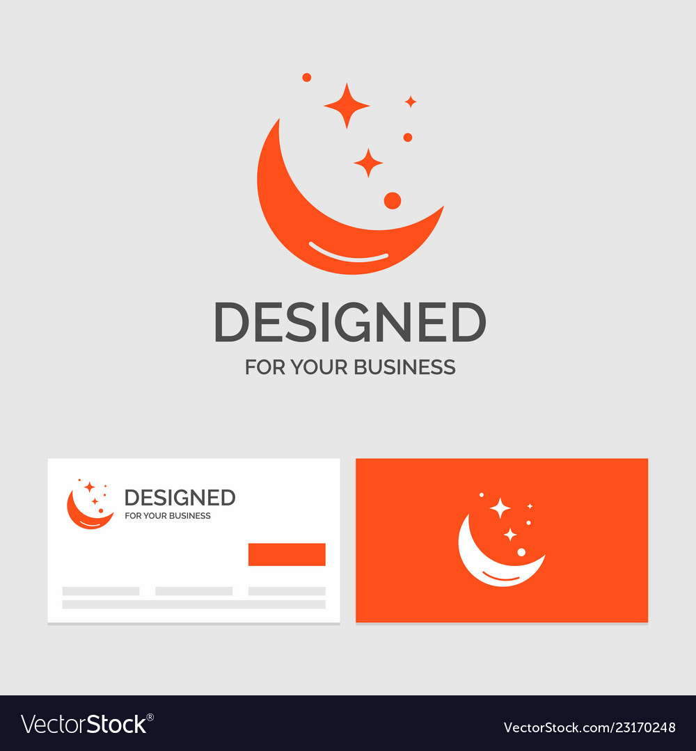 Business logo template for moon night star