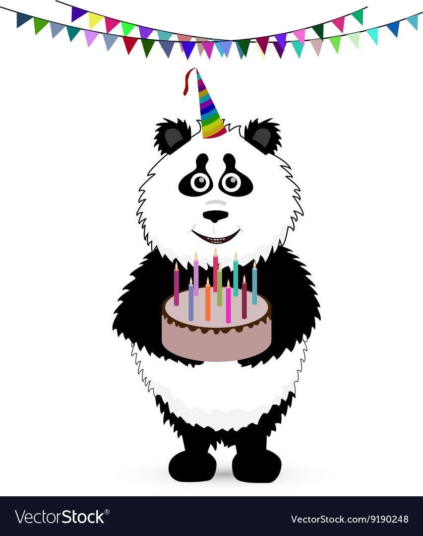 Cute baby card with nice panda