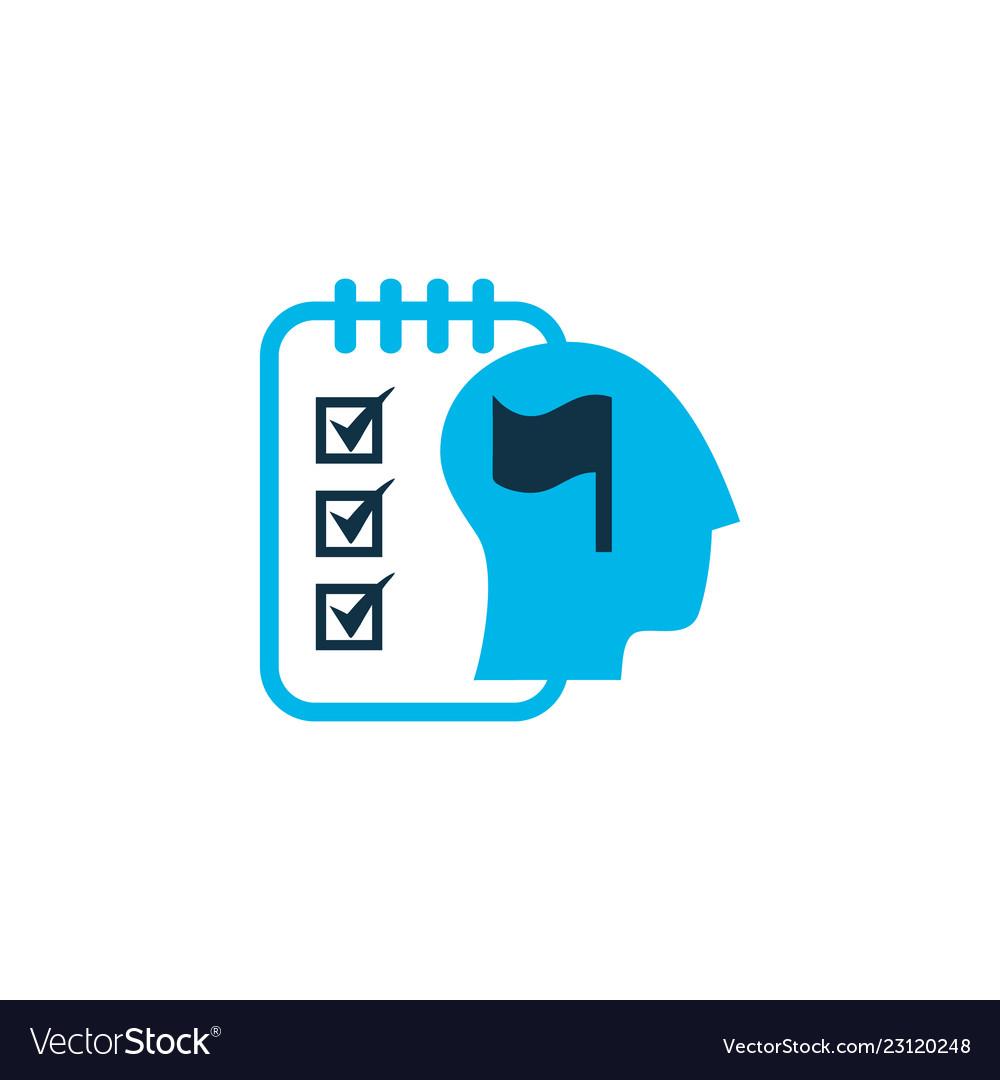 Self-organization icon colored symbol premium