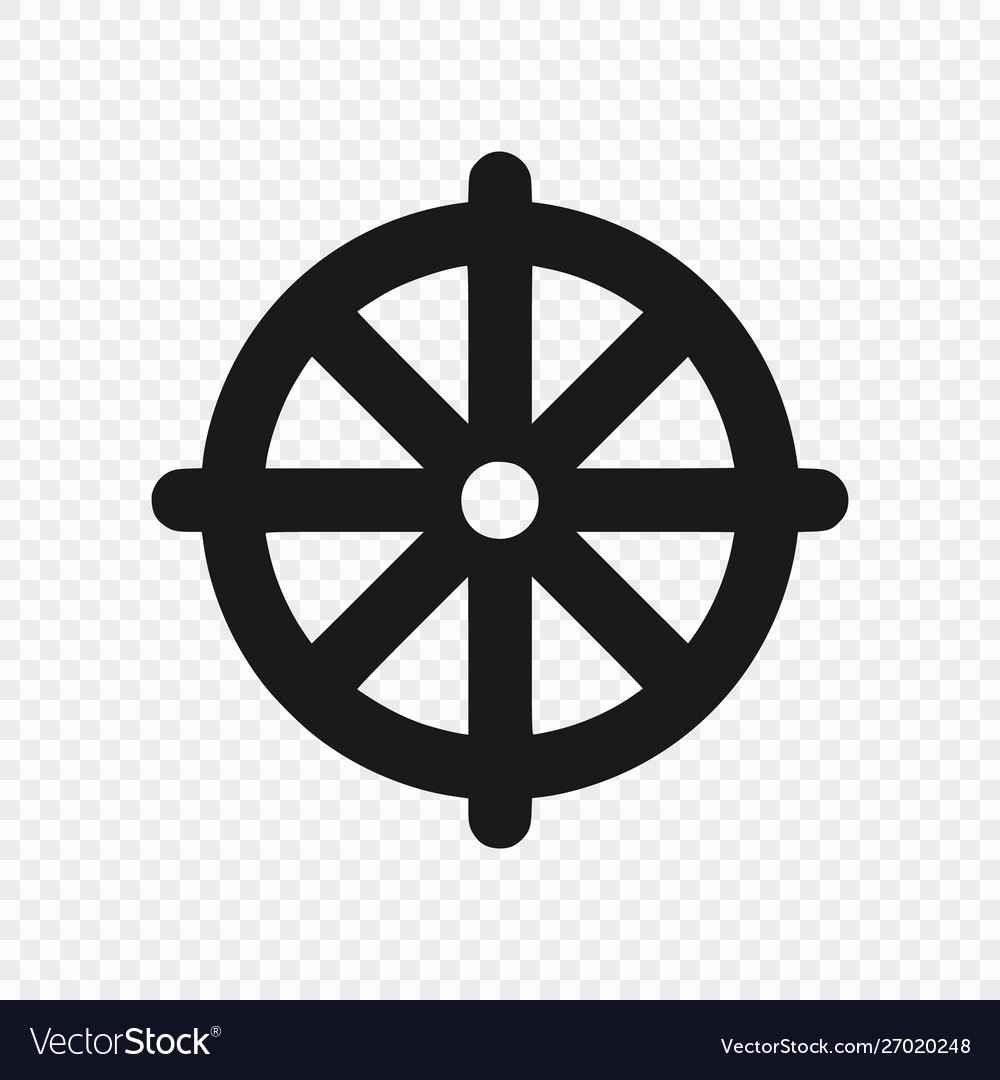 Symbol buddhism isolated