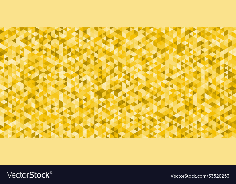 Abstract yellow triangles pattern seamless