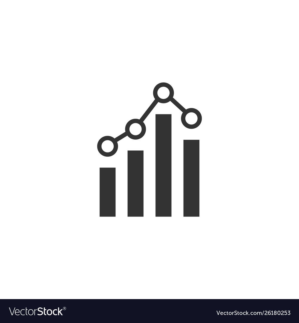Analytics icon design template isolated