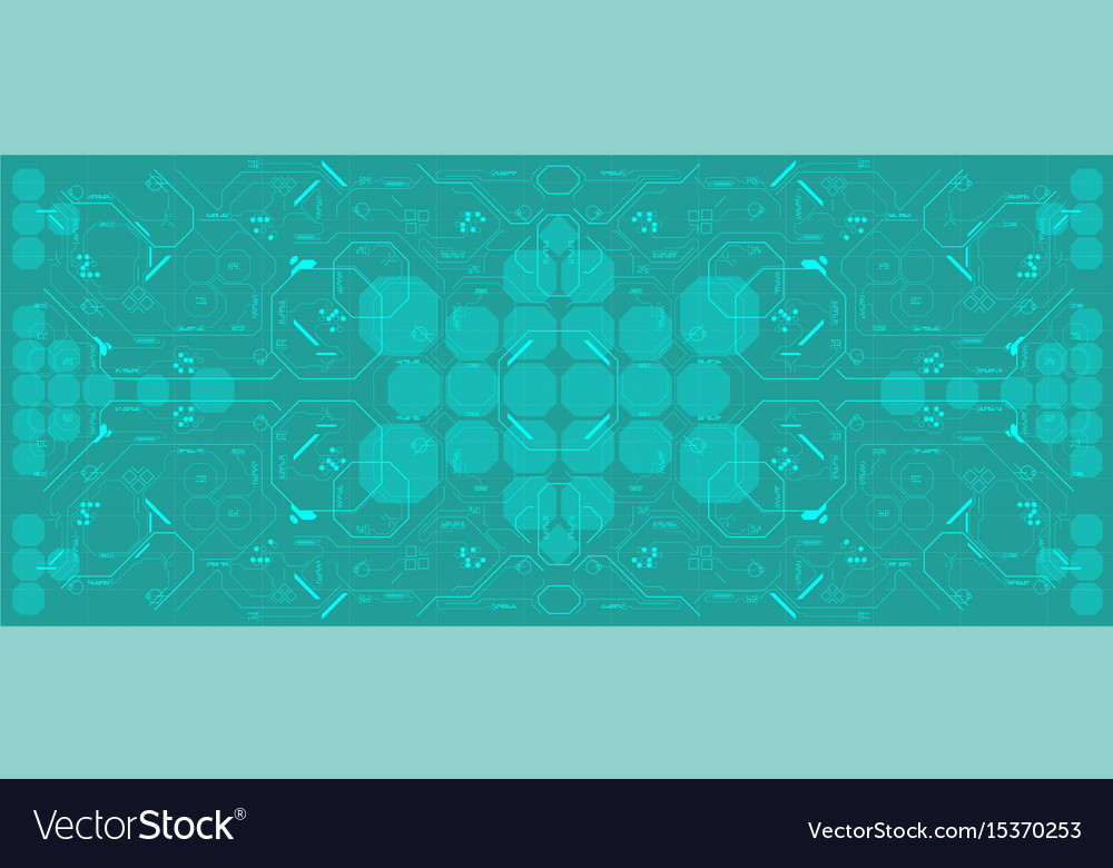 Background with futuristic user interface design