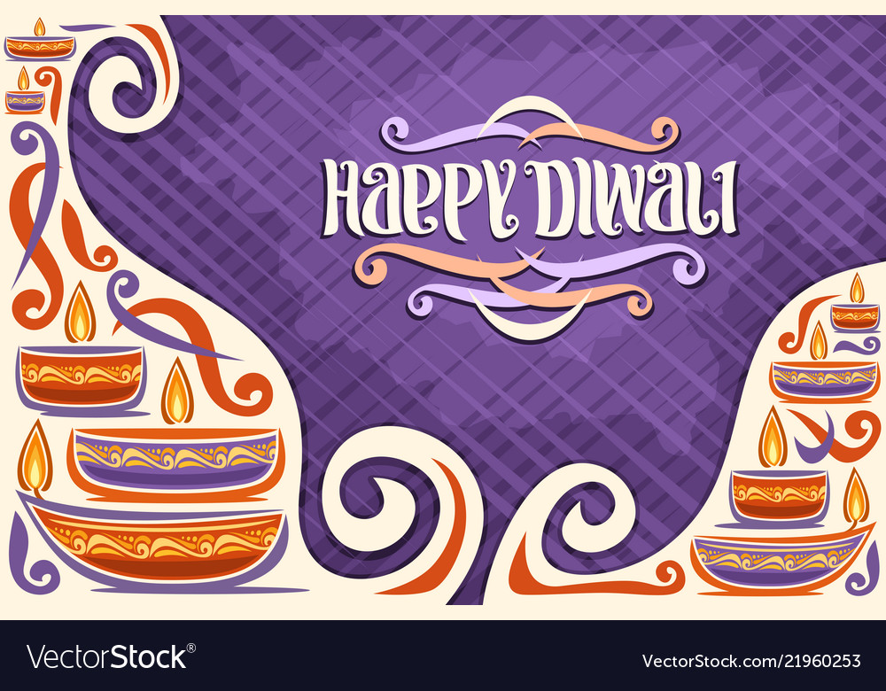 Greeting card for indian diwali