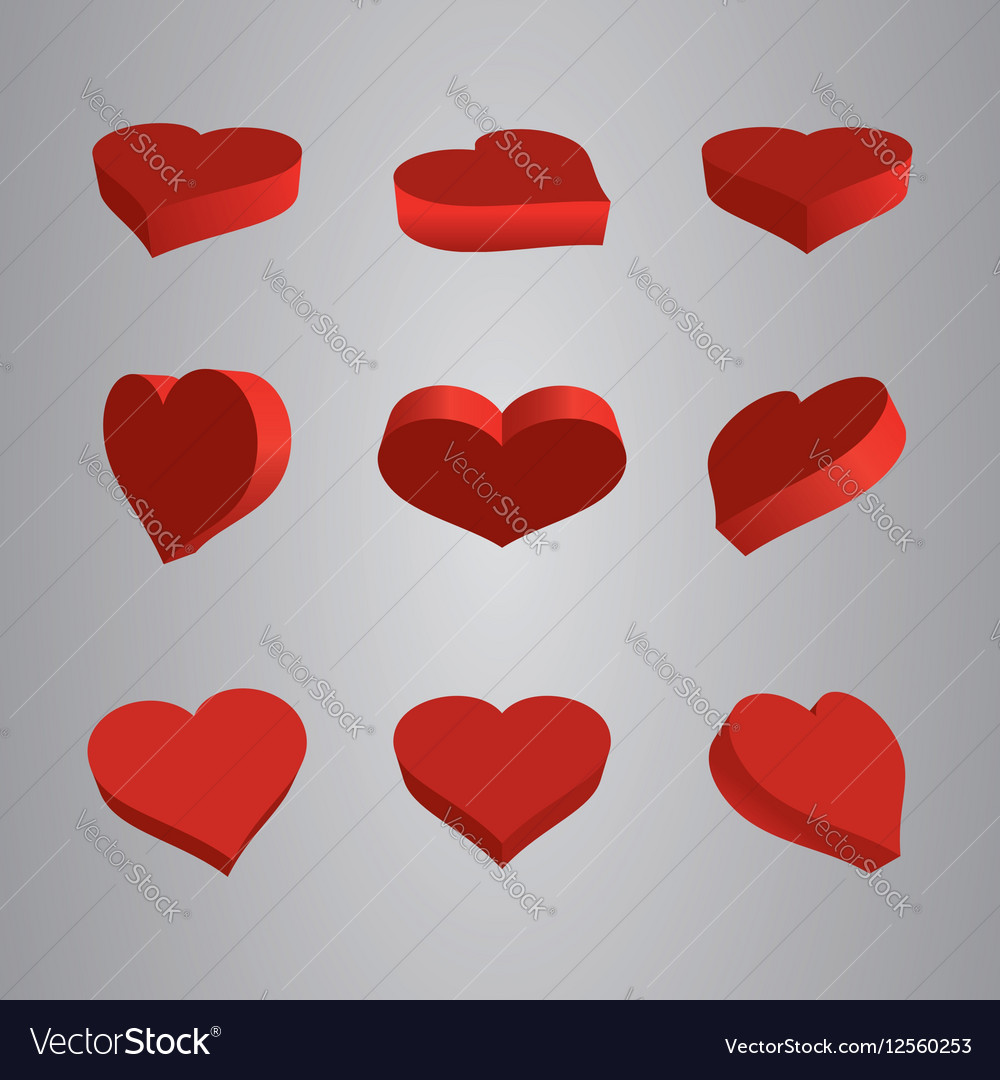 Heart Icons Set ideal for valentines day and