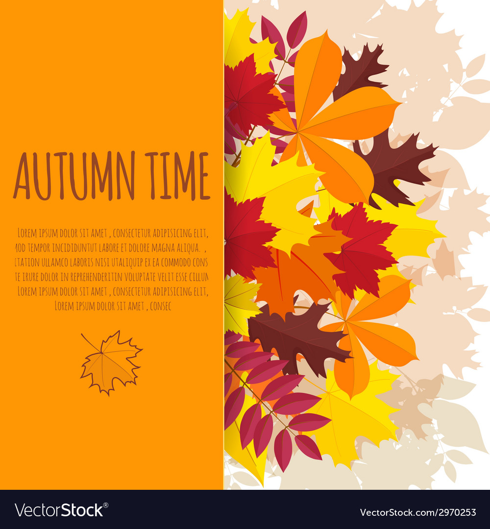 Paper background with autumn foliage